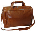 Amerileather 18 inch Leather Carry on Weekend Duffel Bag - Brown