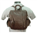 Amerileather 3 Way Convertible Backpack & Shoulder Bag - Chestnut Brown