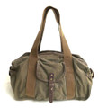 "Virginland ""Weekender"" Large Distressed Canvas Duffel Bag - Army Green"