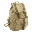 Virginland Large Rugged Canvas Backpack - Khaki Tan