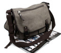 "Men's ""Weekday"" Heavy Canvas Classic Messenger Bag - Khaki Tan"