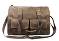 """Zurich"" Men's Full Grain Leather Weekender Travel Carryall Bag"