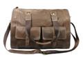 """Zurich"" Men's Full Grain Leather Weekender Travel Carryall Bag"