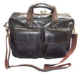 """Warsaw 2"" Men's Rugged Vintage Leather Laptop Briefcase"