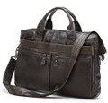 """Dusseldorf"" Men's Trendy Vintage Leather Crossbody Messenger Bag"