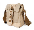 "Virginland ""Fast Tote""  Vintage Canvas Shoulder Satchel - Khaki Tan"