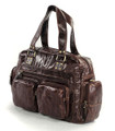 """Vienna"" Soft Vintage Leather Overnight Duffel Tote Bag"