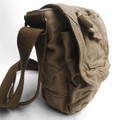 "Virginland ""City Tote""  Vintage Canvas Shoulder Satchel - Khaki Tan"