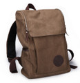 "Muze ""Lincoln Avenue"" Men's All-purpose Canvas Backpack - Coffee Brown"