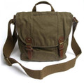 "Virginland ""Commuter"" Men's Canvas Satchel Bag - Army Green"