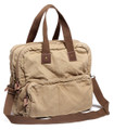 Virginland Vintage Canvas Men's Tote Bag - Khaki Tan