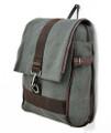 Men's Trendy Schoolboy Bookbag & Backpack - Grey