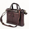 """Old Town"" Men's Soft Vintage Leather Tote & Messenger Bag"