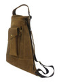 """Lomas"" Men's Full Grain Leather Single Shoulder Sling - Tan"