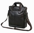 """Marseille 2"" Men's Leather Box-type Vertical Messenger Bag"