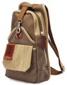 "Linshi Tasks ""Scripps"" Men's Canvas Crossbody Shoulder Sling - Brown Green"