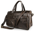 """Wellington"" Men's Smooth Vintage Leather Laptop & Messenger Bag - Dark Brown"