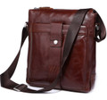 """St. Martin"" Men's Leather Compact Tablet & iPad Messenger Bag"