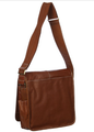 Amerileather Legacy Leather Teddy Shoulder Bag-Brown
