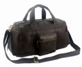 """La Jolla"" Men's Full Grain Leather Weekender Travel Carryall Bag"
