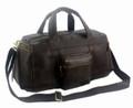 """La Jolla"" Men's Full Grain Leather Weekender Travel Carryall Bag"