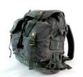 Men's Trendy Military Style Canvas Backpack - Gunmetal Grey