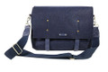 "Ducti ""Destroyer"" Lightweight Felt Laptop Messenger Bag - Navy Blue"