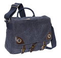 "Ducti ""Blue Angel"" Canvas Laptop Messenger Bag - Navy Blue"