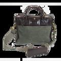 Ducti Cavalier Soft Suede Laptop Attache Case - Tan Green