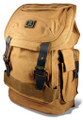 "Amik ""Cahuenga Pass"" Italian-Style Vintage Canvas & Leather Backpack - Khaki Tan"