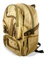 "Amik ""Garvanza"" Designer Vintage Canvas School Backpack - Khaki Tan"
