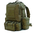 Men's Large Military Style Modular Tactical Backpack & Daypack - Military Green