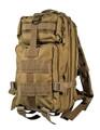 Men's Military Style Medium Light Tactical Daypack - Khaki Tan