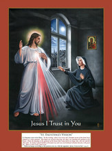 ST. FAUSTINA'S VISION - Print - by Tommy Canning