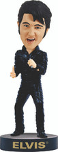 ELVIS PRESLEY– Black Leather '68 Comeback Special - Bobblehead