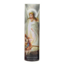 GUARDIAN ANGEL , LED Flameless Devotion Prayer Candle