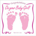 CONGRATULATIONS ON YOUR BABY GIRL-Greeting Card & CD by Twin Sisters