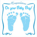 CONGRATULATIONS ON YOUR BABY BOY-Greeting Card & CD by Twin Sisters