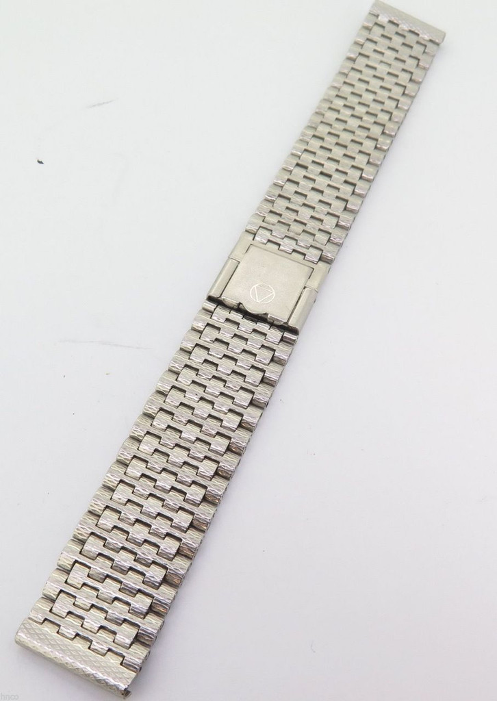 VINTAGE 18MM STEEL INOX NSA 7 row Bark type Heuer BRACELET