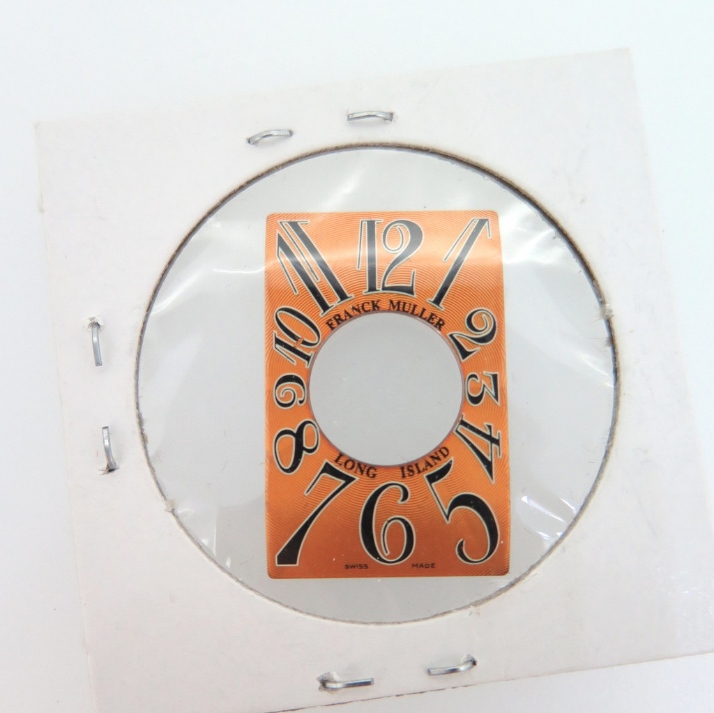 Franck Muller Long Island orange dial, new old stock 19mm X 30mm