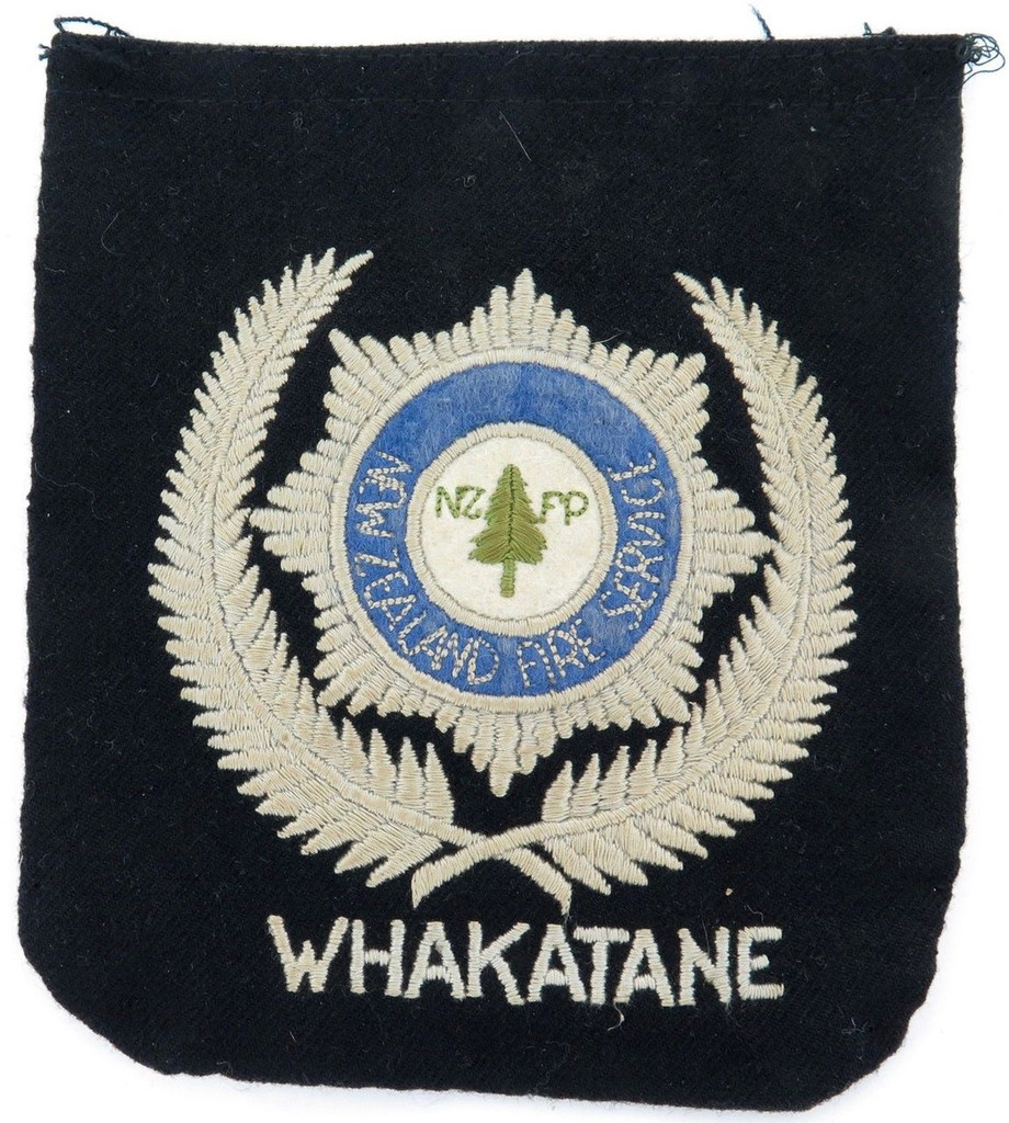 Rare c1960's NZ New Zealand NZFP Fire Service Whakatane huge pocket patch