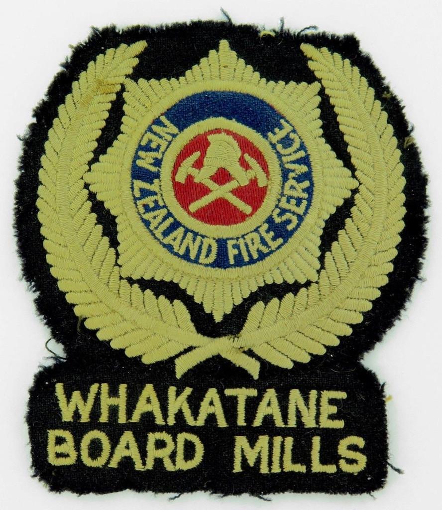 Super rare c1940's NZ New Zealand Fire Service Whakatane Board Mills huge board