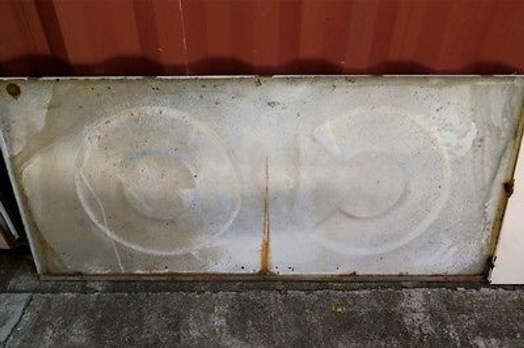 MASSIVE 16 FT RARE / VINTAGE AMERICAN CONOCO GAS STATION METAL EMBOSSED ENAMEL SIGN