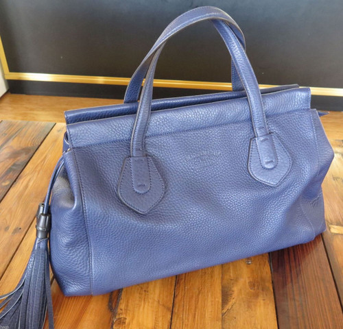 AUTHENTIC GUCCI TASSEL 354469 BLUE HAND BAG