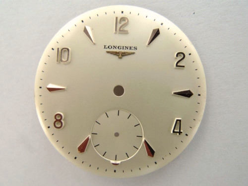 LONGINES pink gold CAL. 27 17 JEWEL 30MM NEW OLD STOCK DIAL .