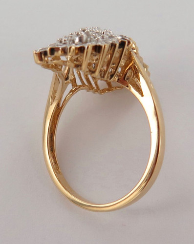 DAZZLING / EXTRAVAGANT 9CT YELLOW GOLD & 57 DIAMOND DRESS RING VAL $2500