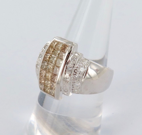HEAVY SET 14CT WHITE GOLD & 2.33CT DIAMOND RING VALUATION OF $5100