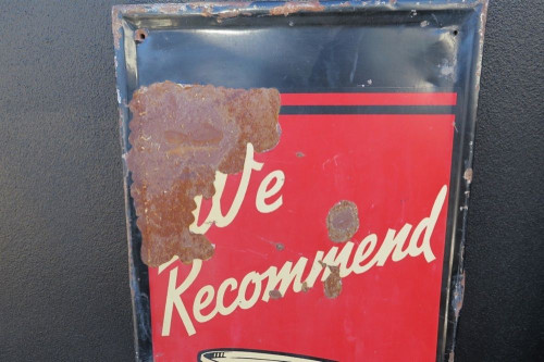 RARE / TALL 1937 AMERICAN DIAMOND 760 MOTOR OIL GAS STATION / GARAGE SIGN.