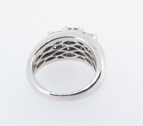 Impressive 14ct White Gold 1.28ct Diamond Cluster Ladies Ring VAL $4570