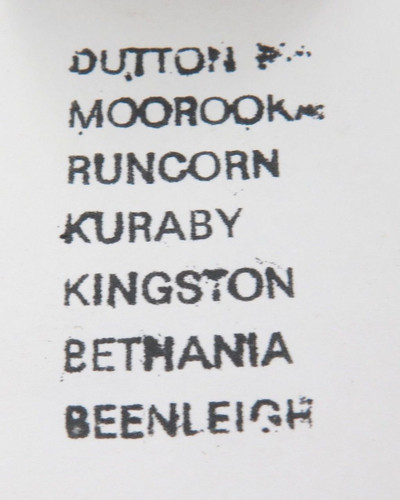 C 1970's QLD Rail QR Station destination ink stamp. Dutton park to Beenleigh